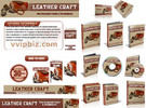 Thumbnail Leather Craft Website Template Plr Pack