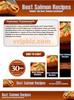 Thumbnail Salmon Recipes Website Template Plr Pack