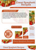 Thumbnail Spaghetti Recipes Website Template PLR - PSD Pack
