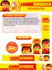 Thumbnail Learn Spanish Website Template Plr Pack
