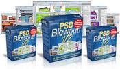 Thumbnail PSD Blowout V2 - Photoshop PSD Minisite Graphic Templates
