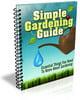 Thumbnail Simple Gardening Guide PLR Listbuilding Pack