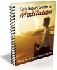Thumbnail Quickstart Guide To Meditation Report with PLR
