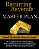 Thumbnail Recurring Revenue Masterplan PLR eBook