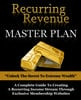 Thumbnail Recurring Revenue Masterplan PLR eBook
