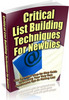 Thumbnail Critical List Building Techniques Unrestricted PLR Ebook