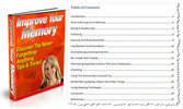 Thumbnail Improve Your Memory PLR Ebook