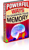 Thumbnail Powerful Ways To Sharpen Your Memory PLR Ebook