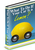 Thumbnail What To Do If Your Car Is a Lemon PLR eBook