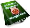Thumbnail 36 Potent Foods PLR Ebook