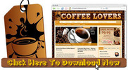 Thumbnail Coffee Lovers Niche Wordpress Blog
