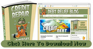 Thumbnail Debt Relief Blog With Matching PLR Ebook