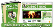Thumbnail Camping, Hiking Niche Wordpress Blog With Matching PLR Ebook
