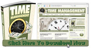 Thumbnail Time Management Niche Wordpress Blog With Matching PLR Ebook