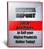 Thumbnail Top Ten Digital Marketplaces PLR Ebook