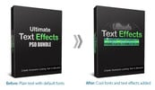 Thumbnail Ultimate Text Effects PSD Bundle
