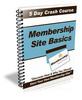Thumbnail Membership Site Basics PLR Newsletter Series