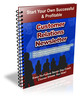 Thumbnail Customer Relations PLR Newsletter Series