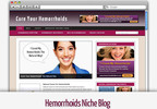 Thumbnail Hemorrhoids Niche Blog - Video Tutorials Included