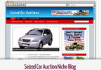 Thumbnail Seized Car Auction Niche Blog - Video Tutorials Included