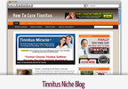 Thumbnail Tinnitus Niche Blog - Video Installation Tutorials Included