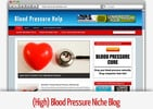 Thumbnail (High) Blood Pressure Niche Blog - Video Tutorials Included