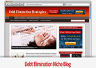 Thumbnail Debt Elimination Niche Blog - Video Tutorials Included