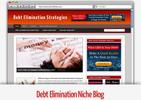 Thumbnail Debt Elimination Niche Blog - Video Tutorials Included