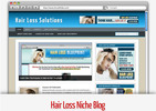 Thumbnail Hair Loss Niche Blog - Video Installation Tutorials Included