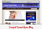 Thumbnail Carpal Tunnel Niche Blog - Video Tutorials Included