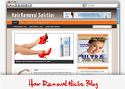 Thumbnail Hair Removal Niche Blog - Highly Optimized Blogs