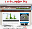 Thumbnail List Building Niche Blog - Highly Optimized Blogs