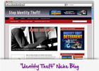Thumbnail Identity Theft Niche Blog - Highly Optimized Blogs