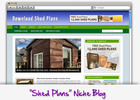 Thumbnail Shed Plans Niche Blog - Highly Optimized Blogs