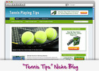 Thumbnail Tennis Playing Niche Blog - Highly Optimized WP Blogs