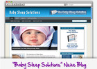 Thumbnail Baby Sleep Niche Blog - Highly Optimized Blogs