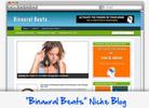 Thumbnail Binaural Beats Niche Blog - Highly Optimized WP Blogs