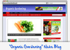 Thumbnail Organic Gardening Niche Blog - Highly Optimized WP Blogs