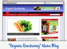 Thumbnail Organic Gardening Niche Blog - Highly Optimized WP Blogs