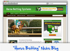 Thumbnail Horse Racing Betting Niche Blog - Highly Optimized WP Blogs