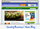 Thumbnail Jewelry Making Niche Blog - Highly Optimized WP Blogs