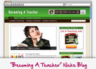 Thumbnail Becoming A Teacher Niche Blog - Highly Optimized WP Blogs