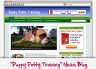 Thumbnail Puppy Potty Training Niche Blog - Highly Optimized WP Blogs