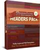 Thumbnail Premium Headers Pack V6 - 25 PSD Templates