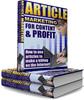 Thumbnail Article Marketing For Content & Profit - PLR