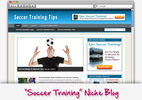 Thumbnail Soccer Training Niche Blog - Highly Optimized WP Blogs