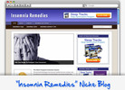 Thumbnail Insomnia Remedies Niche Blog - Highly Optimized WP Blogs