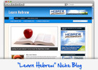 Thumbnail Learn Hebrew Niche Blog - Highly Optimized WP Blogs