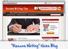 Thumbnail Resume Writing Tips Niche Blog - Highly Optimized WP Blogs