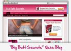 Thumbnail Big Butt Secrets Niche Blog - Highly Optimized WP Blogs